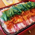 豚キムチのホットプレート蒸し鍋