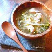 サムゲタン風♪とろとろ鶏肉と生姜の白湯スープ【カロリー表示付】
