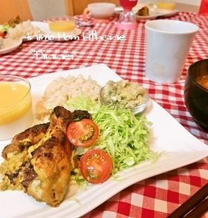 ルーで簡単!タンドリーチキン と 『梅干鍋』。