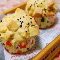焼き芋&チーズの豆乳マフィン