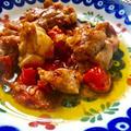 簡単イタリアン!鶏モモ肉のトマト炒めレシピ(*^^*)