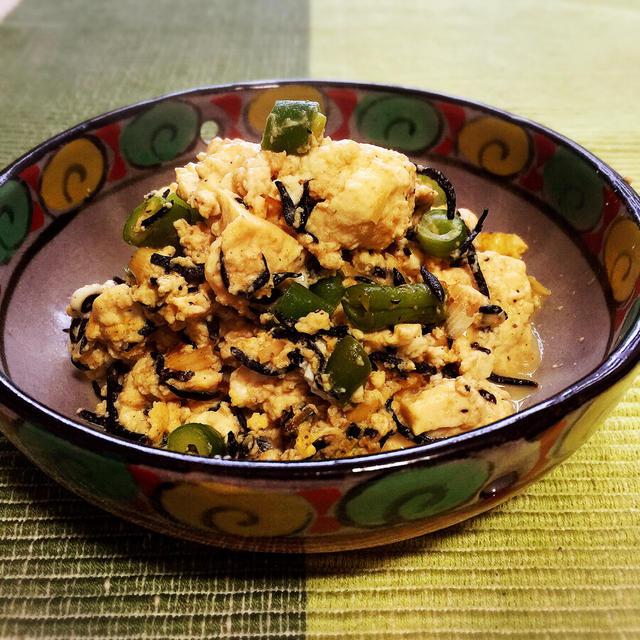 ひじきと豆腐の炒め物