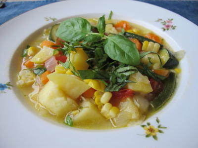 カラフル野菜スープ  7・22・2011