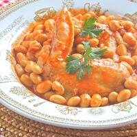 真っ赤な彩りの元気おかず!手羽先と大豆のトマトパプリカ煮。