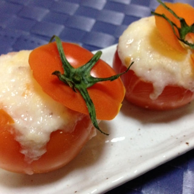 いわき愛菜トマトをつかって☆トマトとやまいものヘルシーグラタン