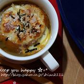 +*油麩の和風オニオンワカメスープ+*