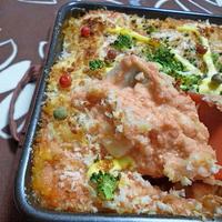 トマトソースと豆腐でグラタン風