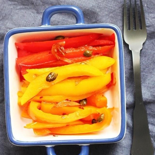 簡単持ち寄りレシピ♥伊風トリコ野菜のペペロナータ