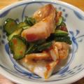 【旨魚料理】タコと胡瓜のかんずり味噌和え