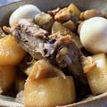 骨付き鶏肉と大根、半熟煮玉子のこってり煮