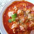 フライパンひとつで簡単美味しい♪もちもち肉団子のトマト煮
