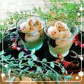 ✿お月見うさぎ乗ってます♡ちょっとヘルシーに豆腐&抹茶スイーツ✿ by +smileさん