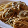 ふき味噌のスパゲッティ
