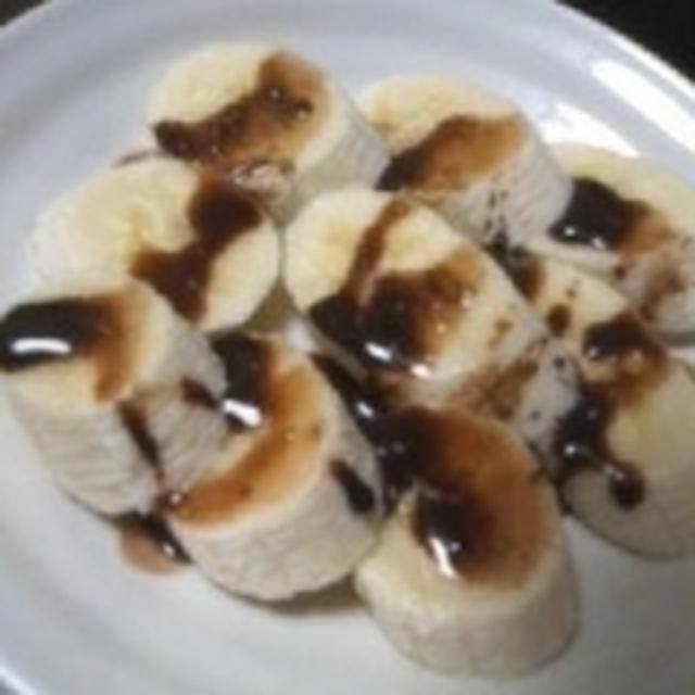 バナナのココアソース