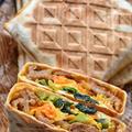 【トルティーヤ使用】♡焼き肉+ナムルdeビビンバ風サンド♡レシピあり♡