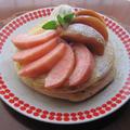 桃フルブラ♪桃のパンケーキ