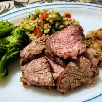 Tritipステーキ&サルサの夜ご飯
