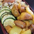 カレージャーマンポテトと炒飯弁当