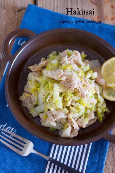 【レシピブログ連載】塩もみ白菜を使ったアレンジレシピ②『豚バラと白菜の塩ガーリック炒め』