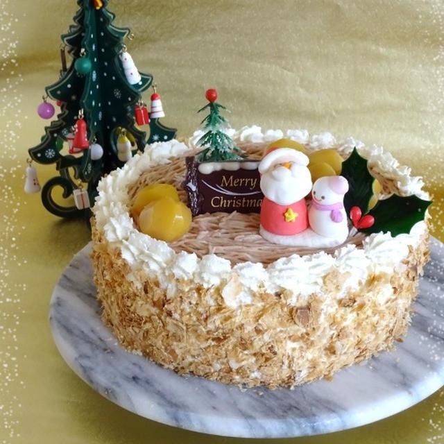 ふんわりマロンのクリスマスケーキ☆