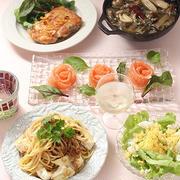 カマンベールとちりめん山椒のスパゲッティと洋食の日