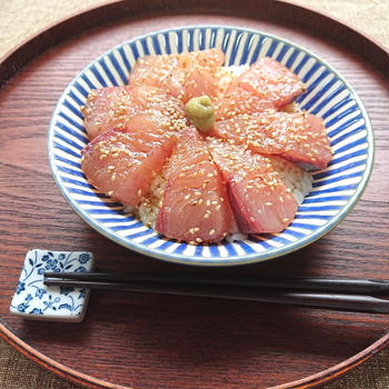 【動画レシピ】ヒラマサ漬け丼