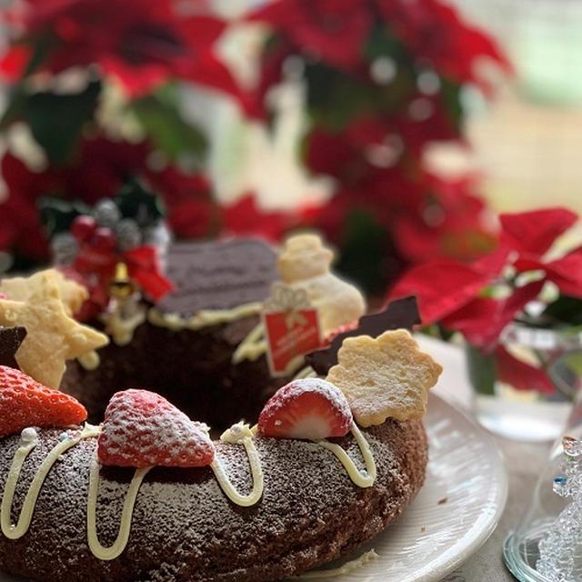 今年のクリスマスケーキ作りはいろいろ~リング型チョコレートクリスマスケーキにレアーチーズケーキ