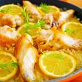 鶏手羽元とレモンの玄米パエリア♪簡単ごはんレシピ by みぃさん