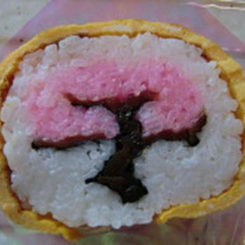 千葉の房総の郷土料理 太巻き祭りずし 満開の桜