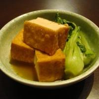 厚揚げと青梗菜の煮物
