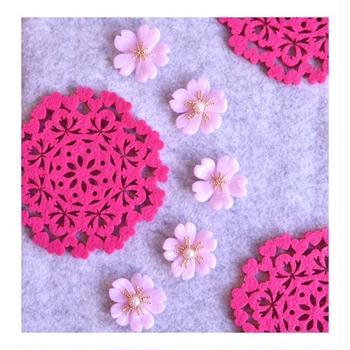 粘土細工で桜を