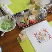 6月最後のレッスンは人気のフラワーカップケーキ♪急遽うわさの3D口金使ってみました!