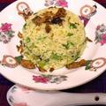 ジャスミン米で卵と葱のぱらぱらチャーハン