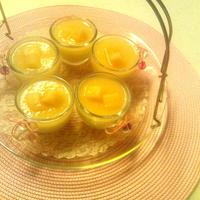 ヘルシー!!桃と豆腐のムース風デザート