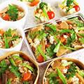 ■【連日竹の子の頂き物で またまた鶏肉入り竹の子五目飯&ポテサラ♪】