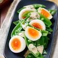 スナップエンドウと卵のデリ風サラダ【#簡単 #節約 #時短 #同時調理 #副菜】