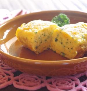 卵1個で ~ ふっくらパセリとコーンの玉子焼き