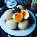 味卵色々❤️と、おかわりがとまらない❤️我が家の味卵中華風♪ジャージャー麺に乗せて❤️