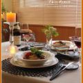 トマトとバジルのスパゲティーニ♪キャンドルのある食卓で