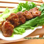 鶏モモ肉のソテー☆ハニージンジャーアップルソース