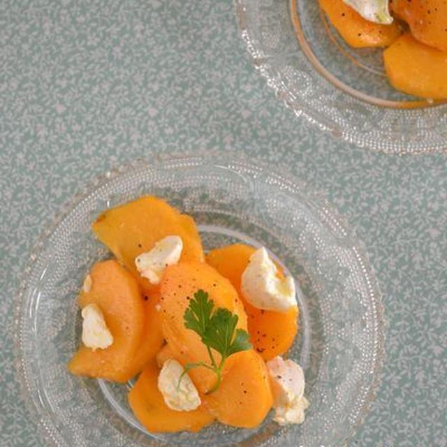 マンゴーみたい!『柿とクリームチーズ和え』