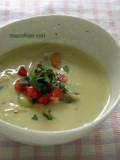 ★夏にお勧め!茄子のカレー風味米粉スープ