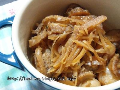 ベビーホタテの生姜煮と餃子スープ