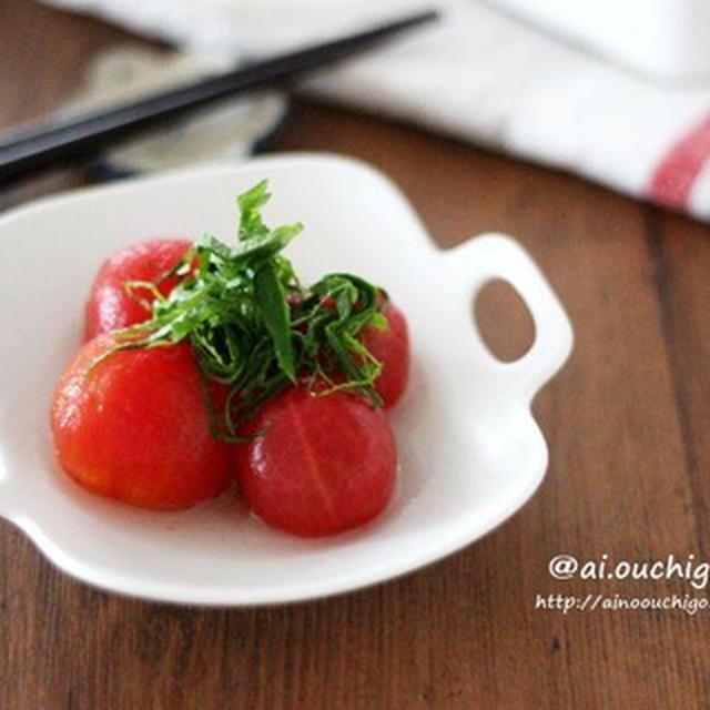 トマト好き必見♡巷で話題のおだしトマトを白だしで作ってみた♡