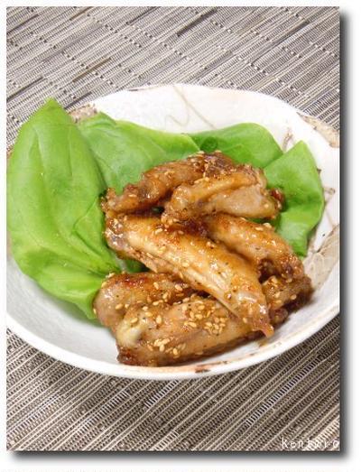 フライパンで若鶏スペアリブの甘辛煮