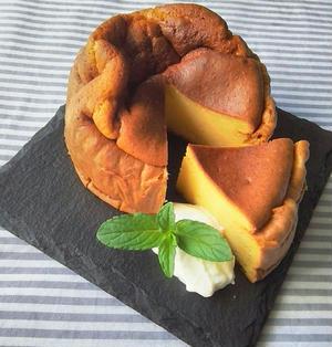 低脂肪・カロリー控えめ♪酒粕と水きりヨーグルトでチーズケーキ