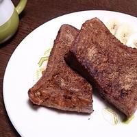 カフェモカフレンチトースト♡ #フレンチトースト #朝ごはん #GABAN #シナモンシュガー