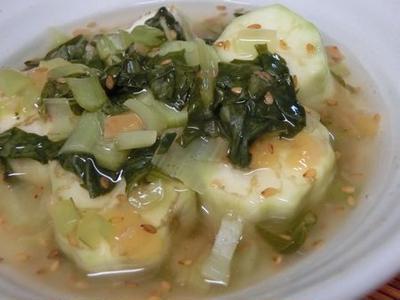 冷やしても美味しい☆ レンジで蒸しなす 梅入りとろみスープに浸して♪