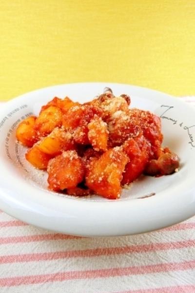 フライパン一つで子供も喜ぶトマト煮込み