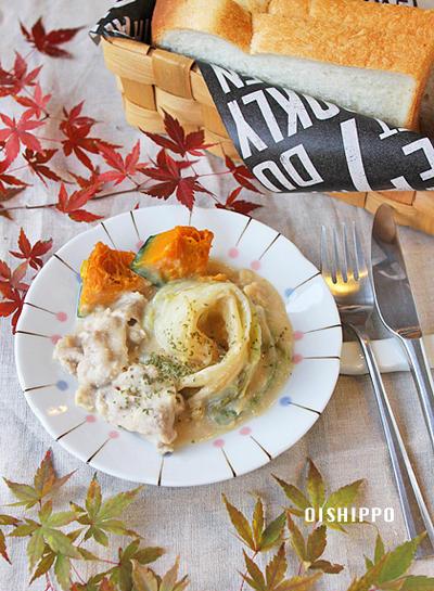 ショウガでほっこり~白菜と豚肉のしょうがクリーム煮